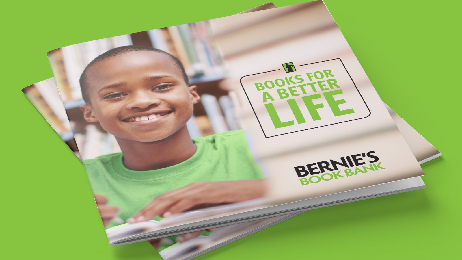 Bernie's Book Bank - Brochure Cover