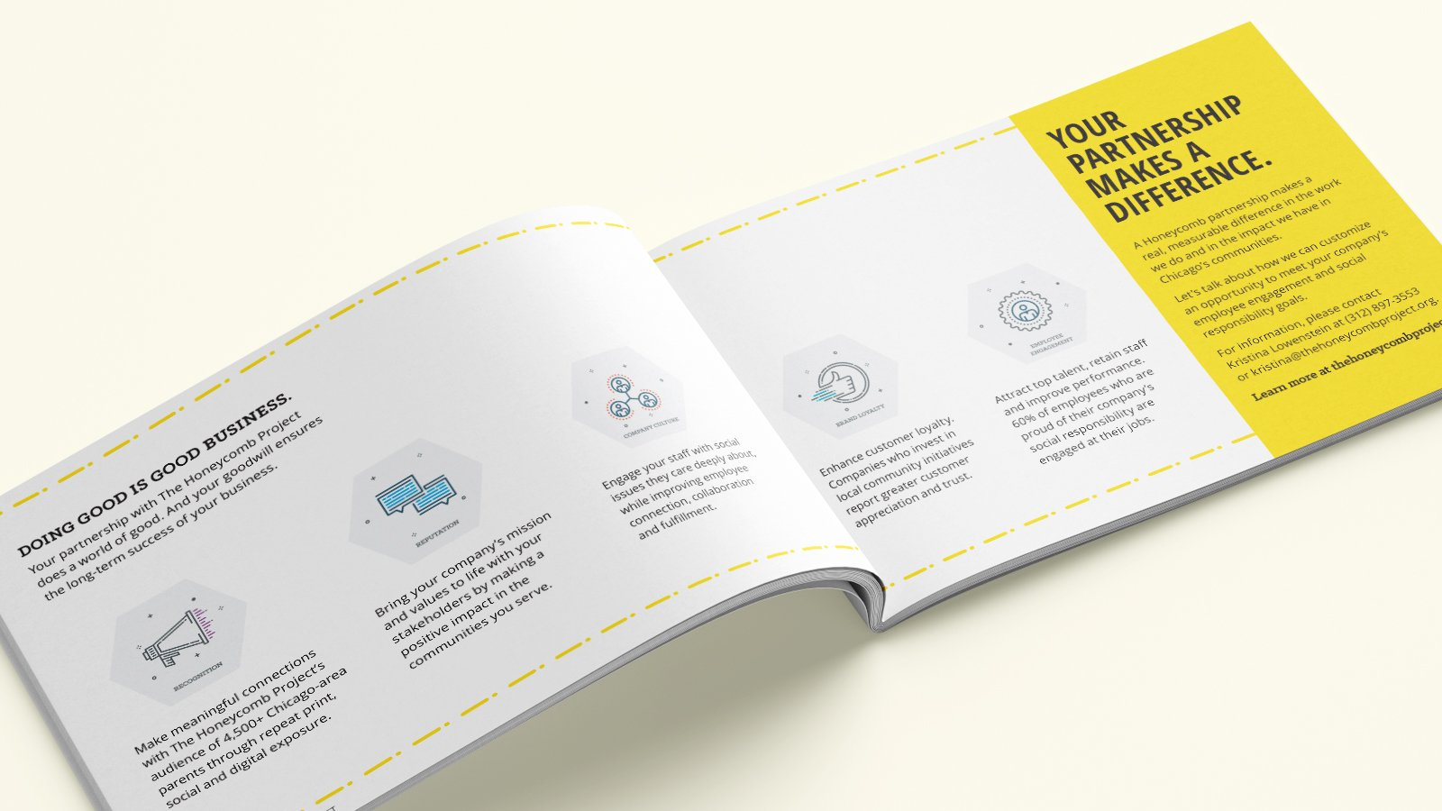 The Honeycomb Project - Corporate Brochure Interior