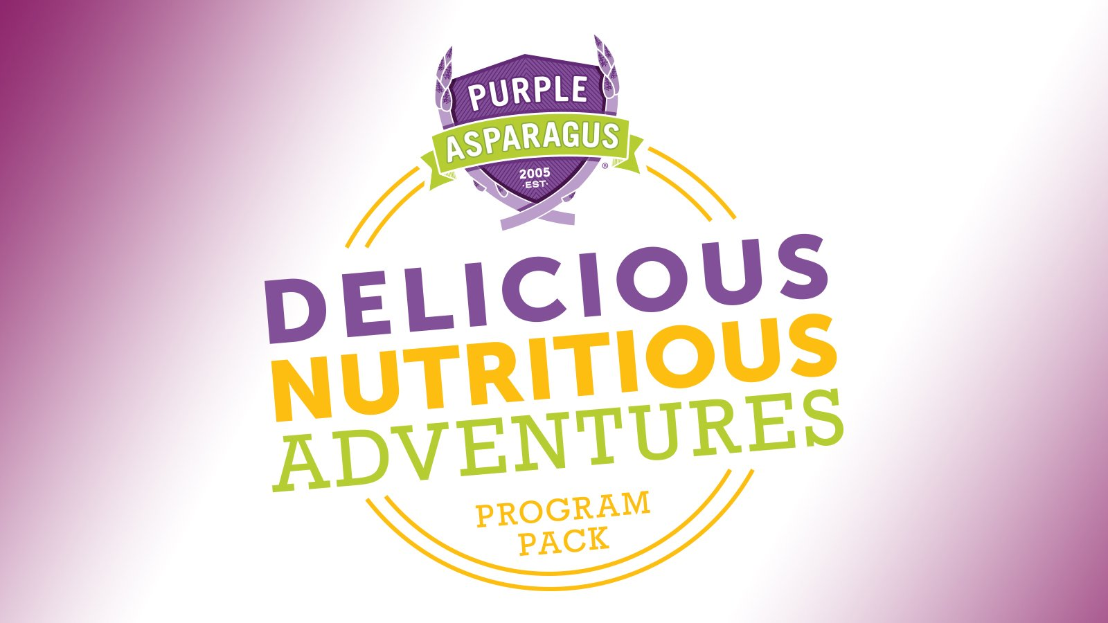 Purple Asparagus - Delicious Nutritious Adventures Logo