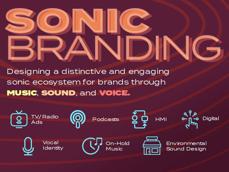 Sonic Branding: Designing a distinctive and engaging sonic ecosystem for brands through music, sound, and voice.