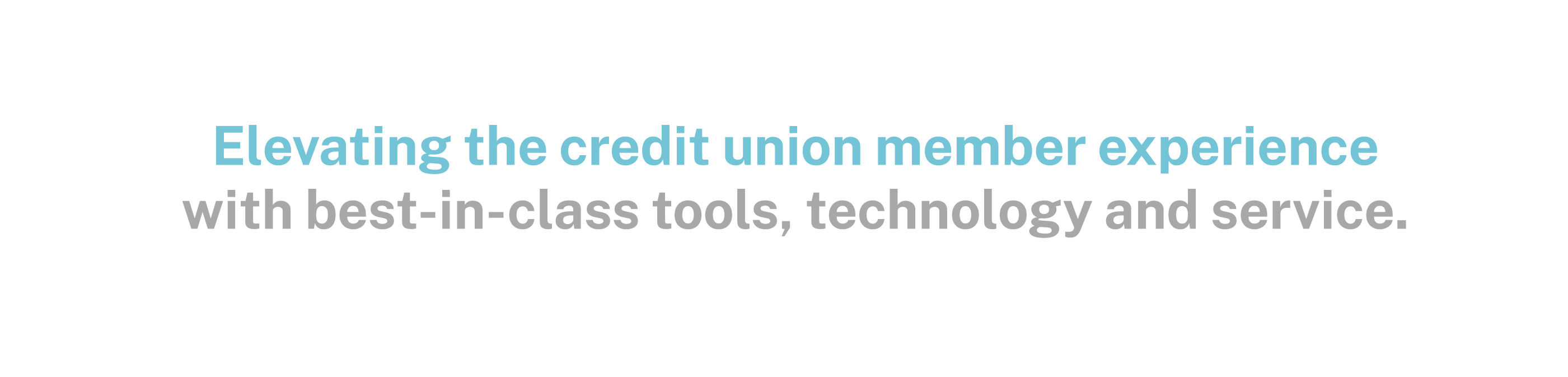 Elevating the credit union member experience with best-in-class tools, technology and service.